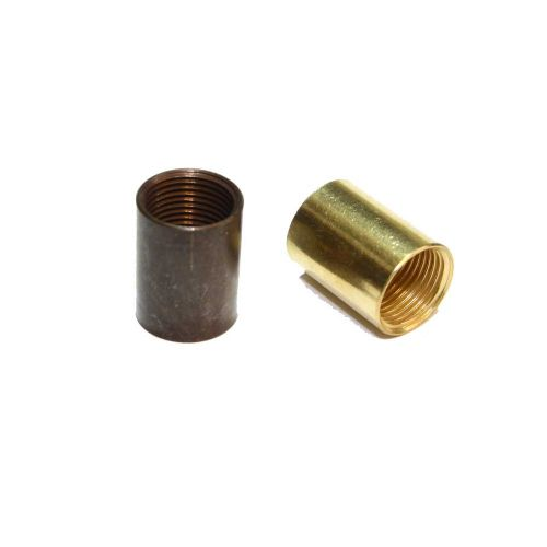 "Solid Brass Coupler 1/2"" x 26tpi  Polished or Antique Finish Pack of 2"